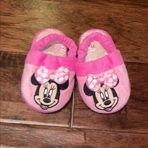 DISNEY Minnie Mouse Slippers Sm(5/6) pink